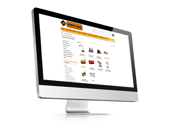 Página Web Corporativa SERVITASA de Maquinaria