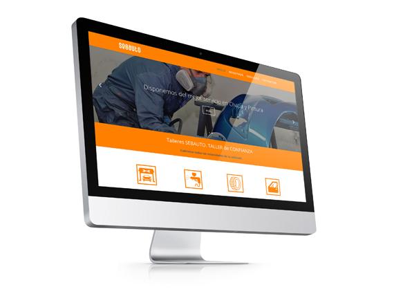Página Web Corporativa Talleres SEBAUTO