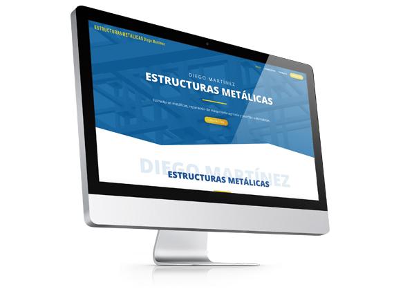 Web Corporativa Estructuras metálicas Diego Martínez